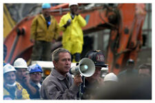 9/11 World Trade Center September 11th George W Bush With Rescue Workers Photo
