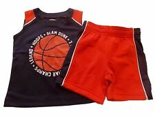 NWT Boy's Gymboree Hop n' Roll basketball shirt shorts outfit 6 12 18 months 2T
