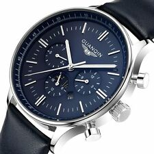 GuanQin High Quality Water Resistant Stainless Steel Case Wrist Watch Sport Mens