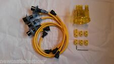 VW Beetle / Camper T2 Yellow HT Ignition Leads / Disributor Cap / Seperators