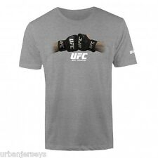 UFC MMA Fight Gloves T-Shirt - Grey - Men's Sizes S/M/L  NWT