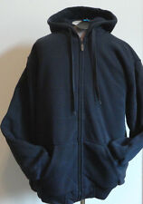 NWT MEN'S SHERPA LINED HOODIE FULL ZIP INSULATED NAVY POCKETS Size M & XL