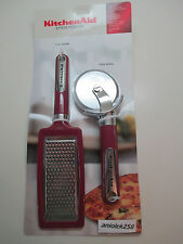 KitchenAid pizza cutter/wheel and flat grater in choice of color