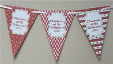Personalised Christmas Bunting Banner add Family Name Any Text