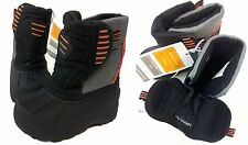 Champion  Thermolite Insulated Black and Orange Winter Snow Boots: Baby Size 7