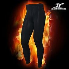Mens Thermal Compression Long Pants Under Base Layer Cera Heat Fabric CPM Black