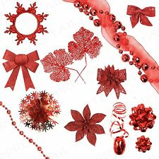 Assorted Festive Red Theme+CHRISTMAS DECORATIONS+ Xmas Tree/Party/Home/Office