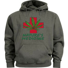 Medical marijuana sweatshirt 420 cannabis weed pot hoodie Mens size sweat shirt