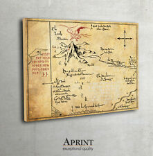 The Hobbit,Thorin's Map, Map of Erebor, fan art, Lord of The Rings map poster