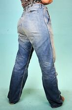 USA Blue Long High Waist Western cowgirl Casual Jeans Pants 26 27 28 31 36 38