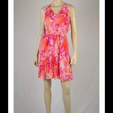 Vince Camuto Pink Floral Chiffon Semi Formal Dress Sz 2,6 NWT