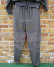 AUSTRIAN ARMY SURPLUS MILITARY ISSUE GREEN COTTON TRACKSUIT BUNDESHEER BOTTOMS
