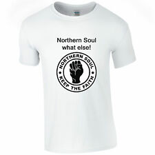 Northern Soul Keep The Faith White T Shirt Individual Quote