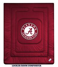 ALABAMA CRIMSON TIDE LOCKER ROOM COMFORTER &  TOSS PILLOW