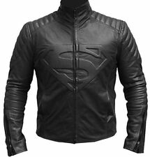 Superman Smallville Men's Lamb Leather Jacket Costume All Colours (FREE WALLET)