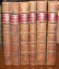 1759 Hume's History of ENGLAND & Great Britain House Stuart Tudor 6 Volumes