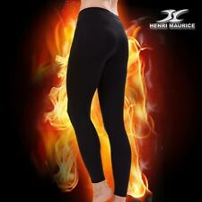 Womens Thermal Underwear Compression Long Pants Base Layer Leggings Black CPW