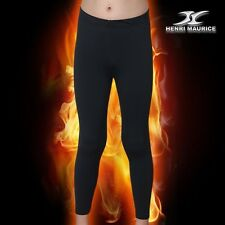 Kids Thermal Underwear Base Layer Compression Long Pants for Winter Black CPK