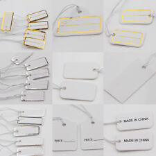 Lot Of 100-1000Pcs White Label Kraft Paper Blank Tag Hang Card Price Tag 10Style