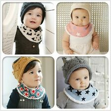Newborn Infants Cartoon Baby Kids Towel Saliva Lunch Bibs Cotton Bandana Scarf