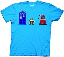 Doctor Who 8 Bit Mens Turquoise T-Shirt