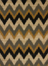 Black Contemporary Carpet Striped Chevrons ZigZags Waves Triangles Area Rug