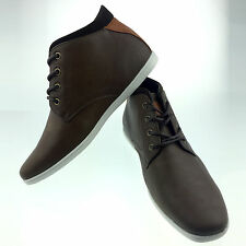 Mens Brown Leather Smart Formal Casual Lace Up Boots Shoes UK SIZE 6 7 8 9 10 11