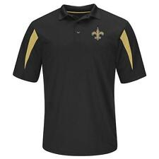 Majestic New Orleans Saints Black Field Classic Synthetic Golf Polo Shirt