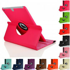 For Apple iPad 2 3 4  Leather Skin 360 Rotating Smart Cover Standing Case Fold