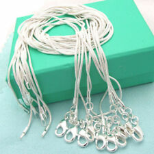 "Lowest price sterling solid silver 5pcs*2mm snake chains 16""-24"" necklace USI"