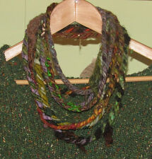 Loop Scarf Infinity Lariat Lagenlook Layer Wool & Silk Felted Lagen Look Cuff