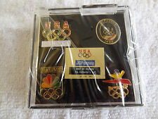 1992 USA Olympic Commemorative Collector 4-Pin Set - Mint Condition