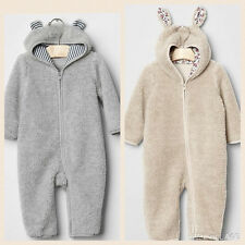 NWT Gap 2015 Sherpa Bear Bunny one-piece Gray Cream SOLD OUT ITEM Warm Zipper