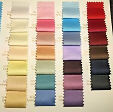 Peau-De-Soie 100% Polyester medium Satin  wedding dresses fabric 30 colours M601