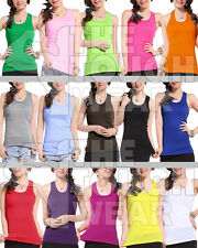 Hottest Selling Women Girls Ladies Racerback Tank Top Sleeveless Vest - ONE SIZE