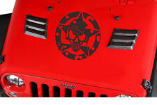 Military Jeep Army Star Circle Skull Hood Decal, USMC, Willys,Sticker,Truck Gift