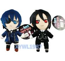 "Black Butler Kuroshitsuji Ciel Sebastian Michaelis Plush Toy Doll 10""Soft Figure"