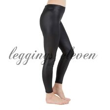 Black Cotton Leggings Full Length - Black Wet Look Leggings