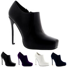 Womens Stiletto Heel Party Evening High Heels Party Shoes Ankle Boots UK 3-9