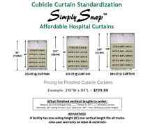 Simply Snap™ Affordable Snap Hospital Curtains/Cubicle Curtains/Privacy Curtains