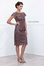 TheDressOutlet Lace Cap Sleeve Formal Wedding Guest Evening Dress Plus Size