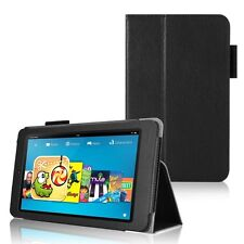 """Leather Wallet Flip Type Stand Case Cover for Amazon Kindle Fire HD 6"""" Inch 2014"""