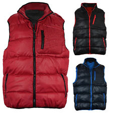 MENS QUILTED BODYWARMER PADDED GILET SLEEVELESS PUFFER JACKET ZIP POCKETS M-XXL