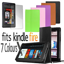PU LEATHER CASE COVER WITH STAND FOR AMAZON KINDLE FIRE 17.8cm INCH with STYLUS