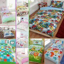 Kids Childrens Boys & Girls Single Bed Character Duvet Quilt Cover Bedding Set