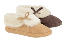 LADIES WOMENS GIRLS LUXURY FAUX SUEDE FLEECY FUR LINED SLIPPER BOOT