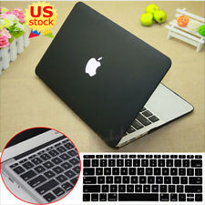 """2in1 Black Rubberized Hard Case+Keyboard Cover for MacBook Air Pro 11""""/13""""-inch"""