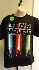 "NWT Stars Wars Youth ""Light Sabers"" Glow-In-The-Dark Black SS Tee Shirt - S-XL"