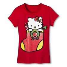 NWT Hello Kitty Little Girl's Sparkly Christmas Stocking Tee - Sizes 4-6X