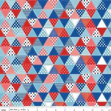 Riley Blake Summer Celebration Quilt Flags 100% Cotton Fabric
